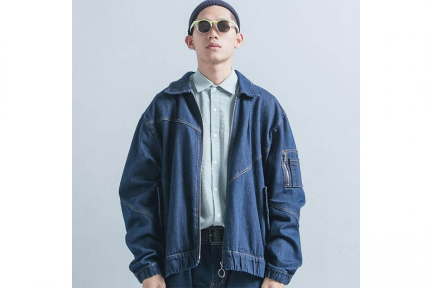 OVKLAB 18 AW Denim Flight Jacket (1)