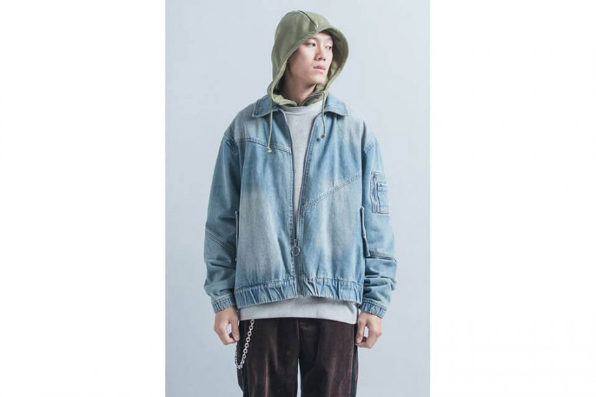 OVKLAB 18 AW Denim Flight Jacket (5)