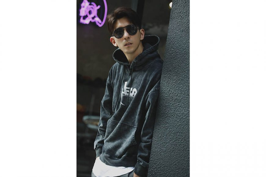 AES 128(六)發售 18 AW Aes Washed Logo Hoodie (3)