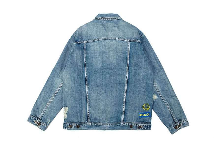 NextMobRiot 18 AW Yolo Hard Washed Denim Jacket (10)