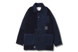 AES 18 AW Aes Japan Indigo Sashiko Coat (1)