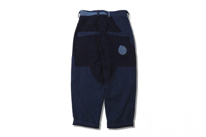 AES 18 AW Aes Japan Indigo Sashiko Trousers (2)