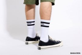 MANIA 18 AW Pinstripe Socks (2)