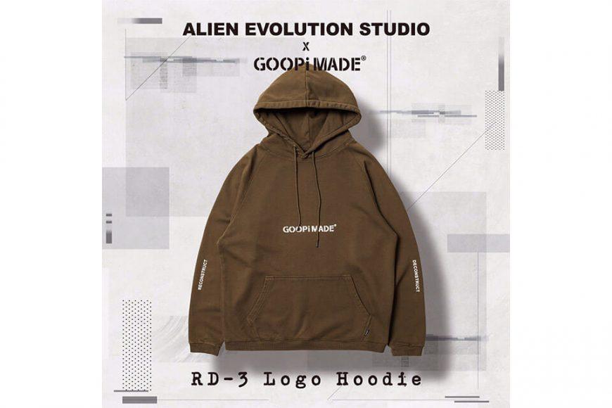 AES 27(四)初三發售 18 AW Aes x Goopi Logo Hoodie (6)