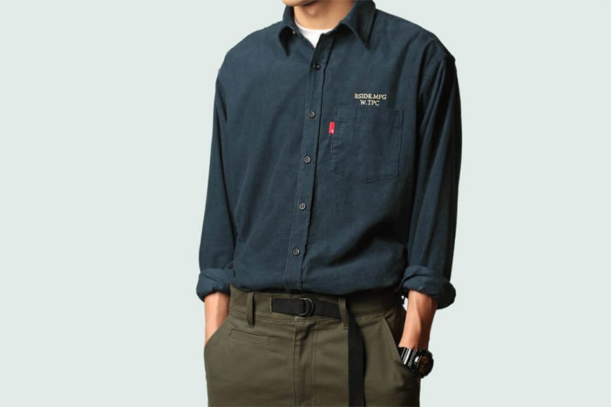 B-SIDE 19 SS Corduroy Shirt (1)
