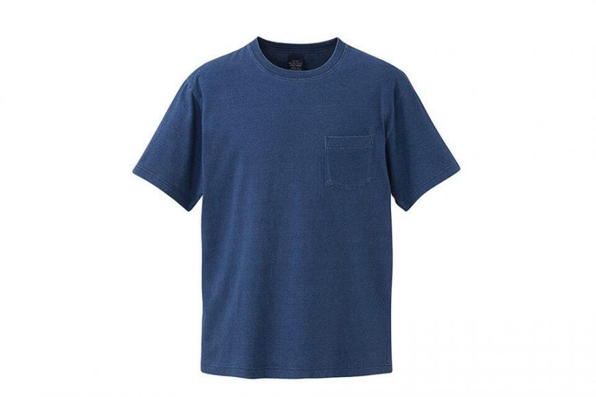 United Athle 3991-01 5.3oz 丹寧風T恤 (附口袋) (5)