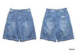 OVKLAB 19 SS Washed Denim Shorts (1)