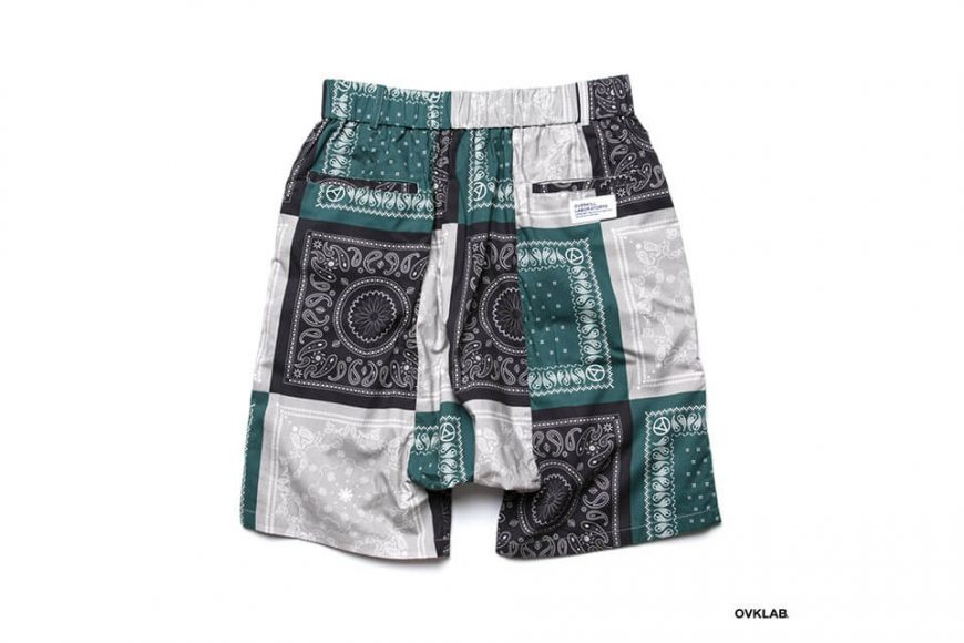 OVKLAB 19 SS Paisley Pattern Wide Shorts (7)