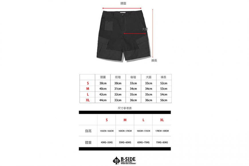 B-SIDE 19 SS 2 Tone M Shorts (18)