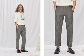FrizmWORKS 19 SS Chambray Selvedge Banding Pants (1)