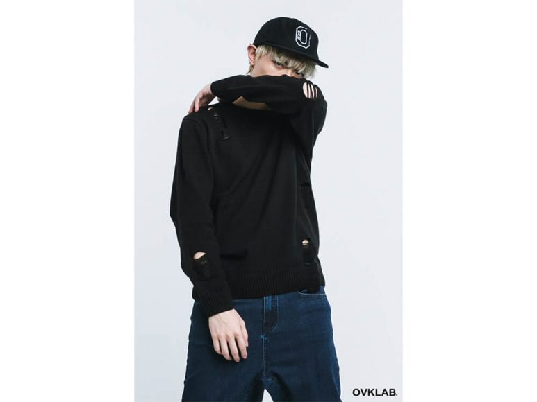 OVKLAB 16 AW Destroyed Knit Sweater (2)