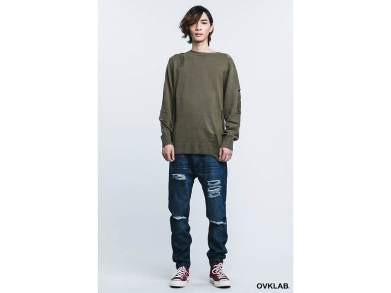 OVKLAB 16 AW Destroyed Knit Sweater (4)