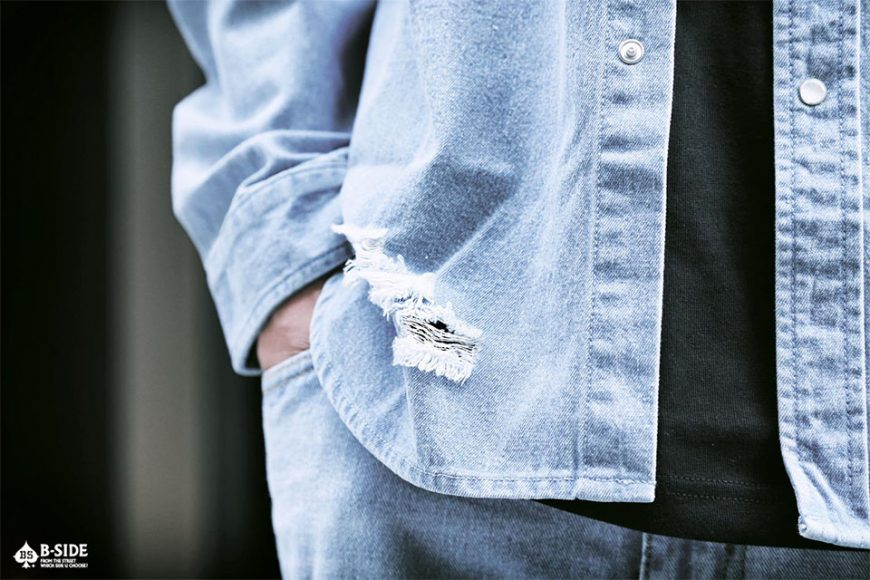 B-Side 16 SS Bspd Washed Denim Shirt (2)