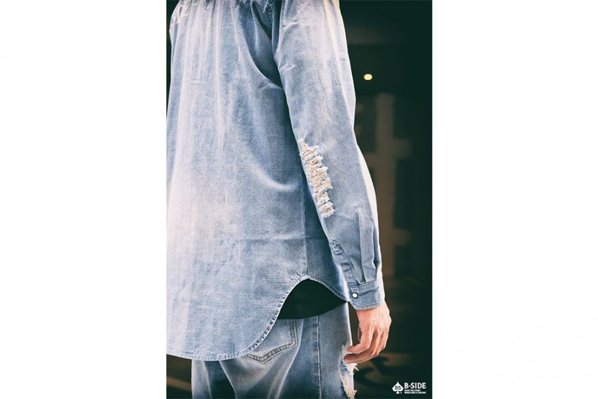 B-Side 16 SS Bspd Washed Denim Shirt (4)