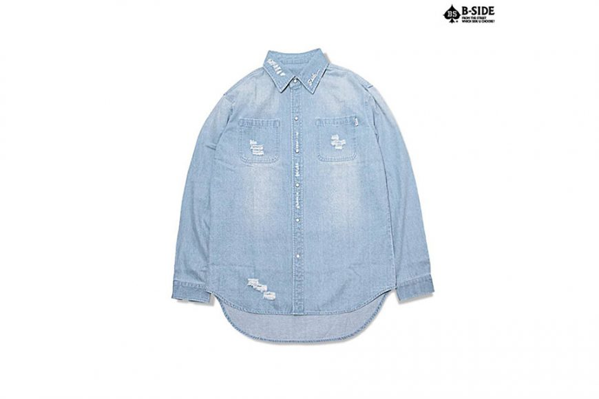 B-Side 16 SS Bspd Washed Denim Shirt (5)