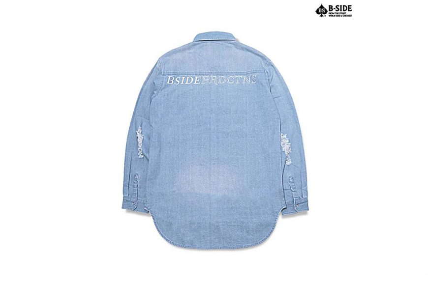 B-Side 16 SS Bspd Washed Denim Shirt (6)