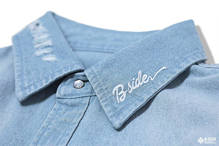 B-Side 16 SS Bspd Washed Denim Shirt (7)