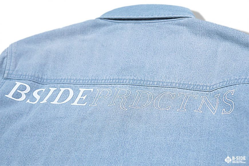 B-Side 16 SS Bspd Washed Denim Shirt (8)