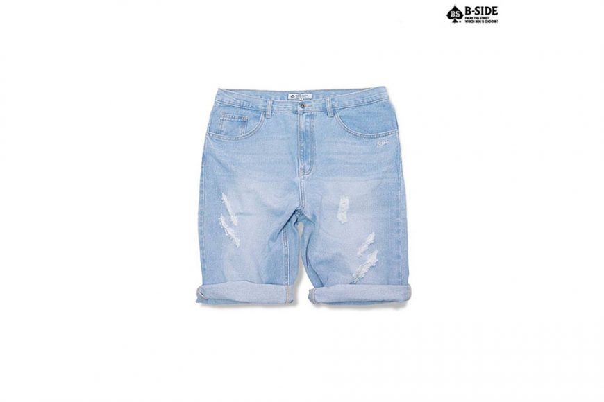 B-Side 16 SS Vintage Scratch Denim Shorts (2)