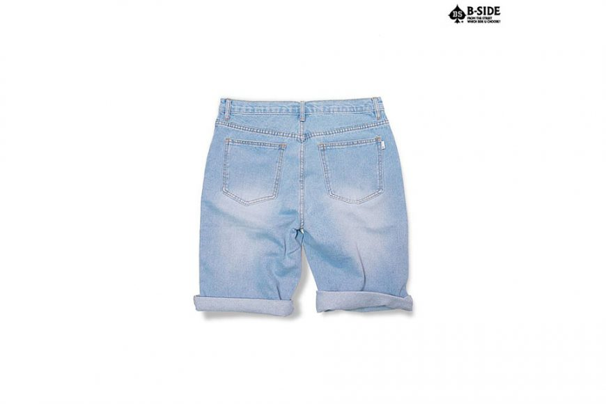 B-Side 16 SS Vintage Scratch Denim Shorts (3)