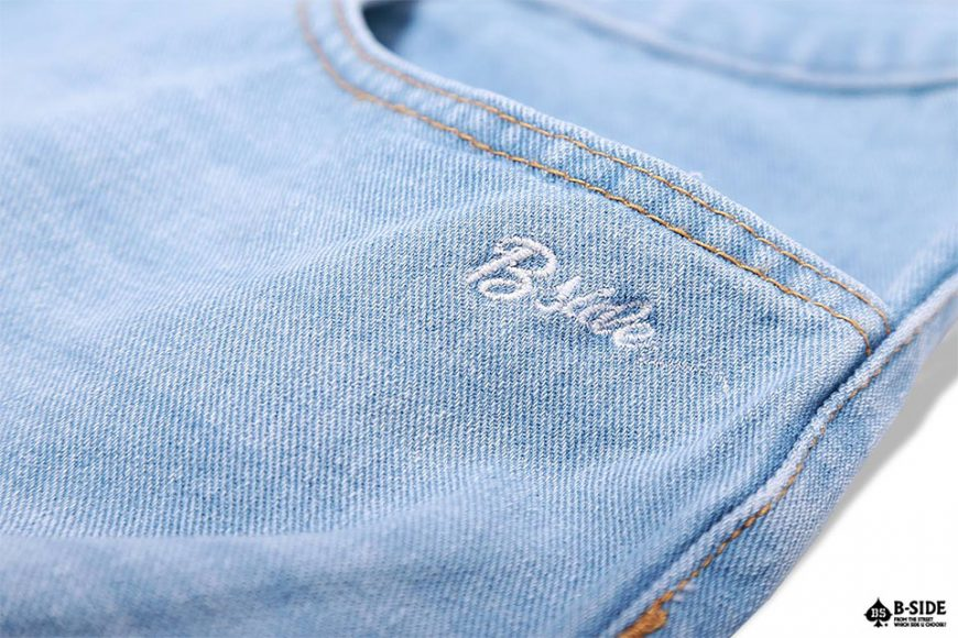 B-Side 16 SS Vintage Scratch Denim Shorts (4)