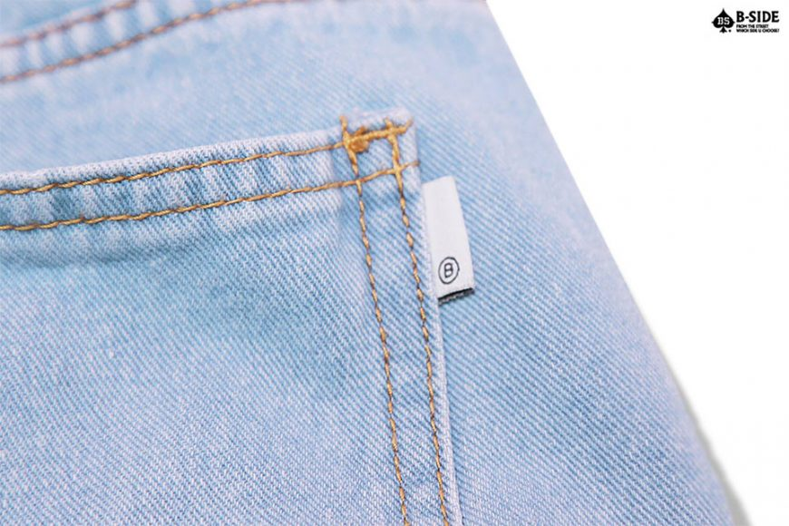 B-Side 16 SS Vintage Scratch Denim Shorts (9)