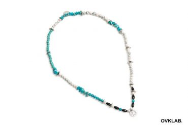 OVKLAB 16 SS Nautral Stone Combination Necklace (1)
