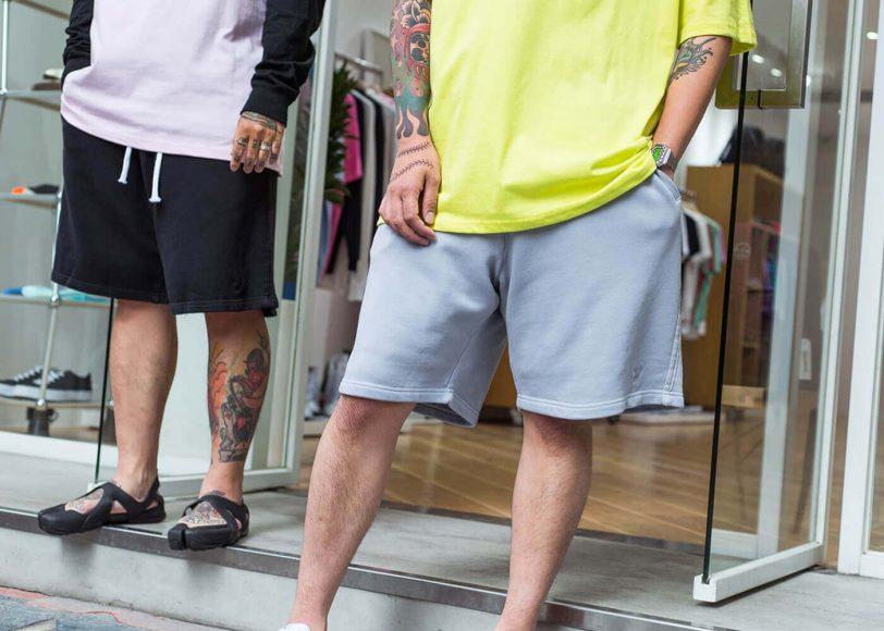 REMIX 17 SS Garment Dyed Sweat Shorts (1)