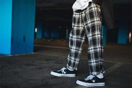 NEXTMOBRIOT 17 FW Plaid Loosely Capri-Pants (4)