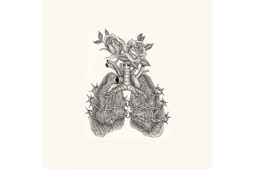 OVKLAB 17 AW OVK Lung Logo Hoodie (2)