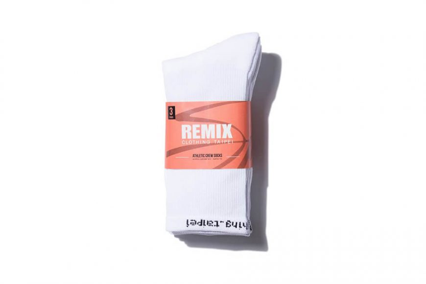 REMIX 17 AW Athletic Crew Socks 3-Pack (6)