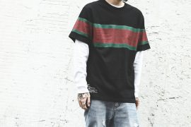 B-SIDE 18 SS Wide Stripe Tee (1)