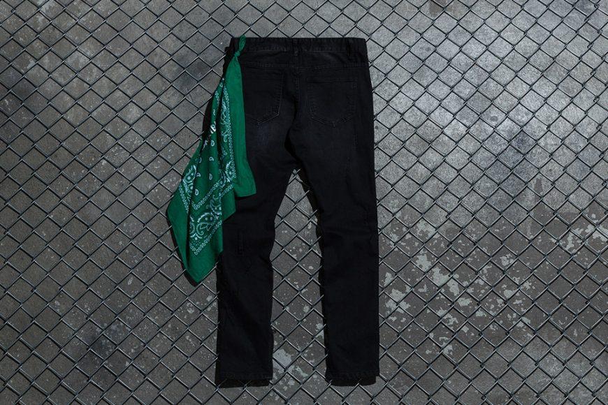 NextMobRiot 98(六)發售 18 SS NMR15th x FASHION KILLA Damage Paisley Denim Pants (2)
