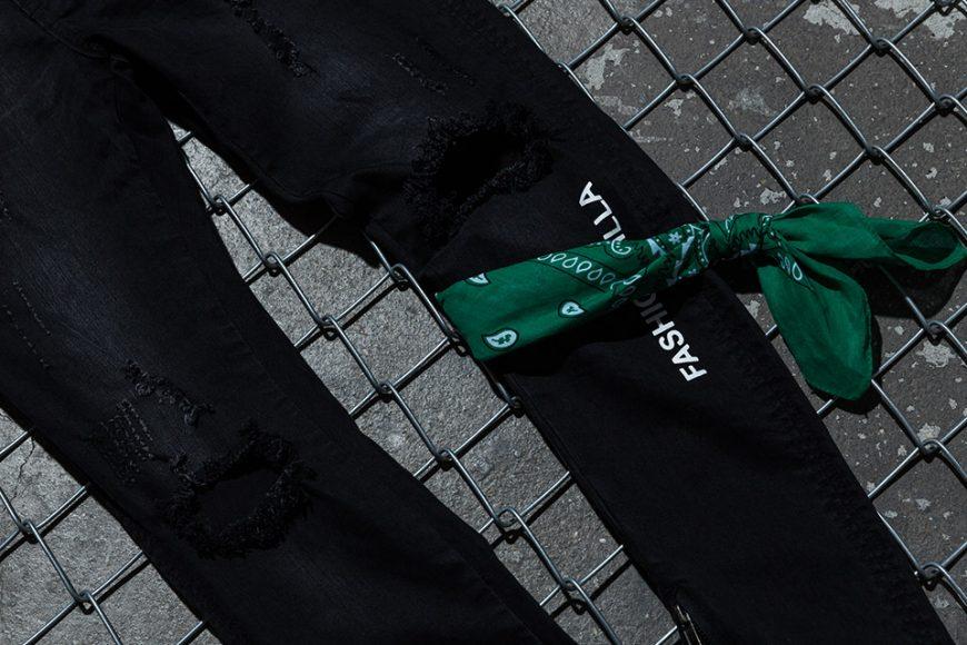 NextMobRiot 98(六)發售 18 SS NMR15th x FASHION KILLA Damage Paisley Denim Pants (5)