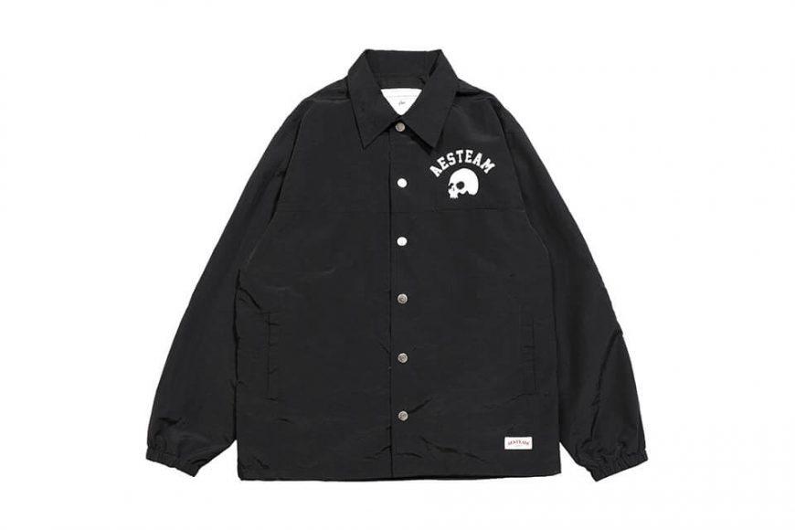 AES 1027(六)發售 18 AW Aes Skull Logo Coach Jacket (2)