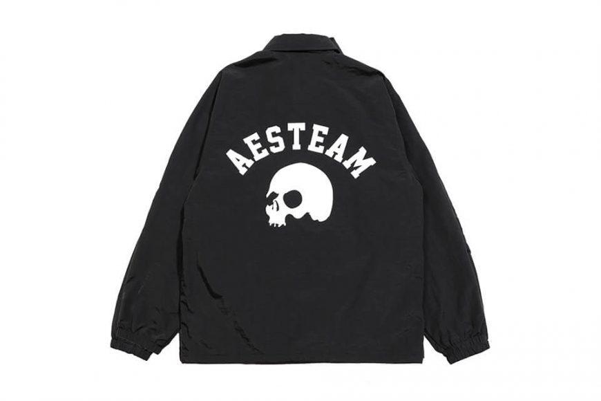 AES 1027(六)發售 18 AW Aes Skull Logo Coach Jacket (3)