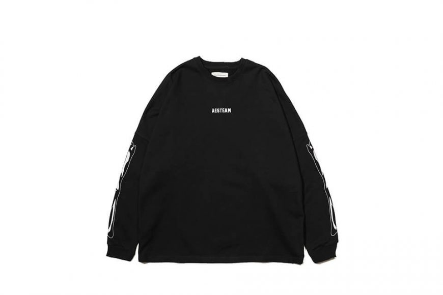 AES 121(六)發售 18 AW Aes Bones Sweatshirt (3)
