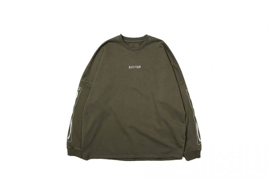 AES 121(六)發售 18 AW Aes Bones Sweatshirt (4)