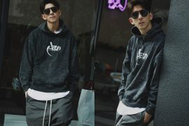AES 128(六)發售 18 AW Aes Washed Logo Hoodie (1)