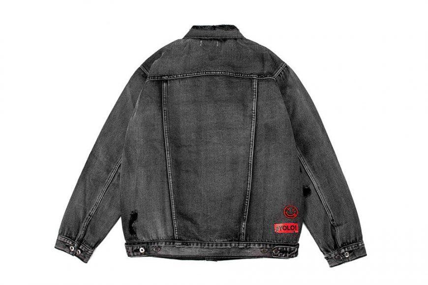 NextMobRiot 18 AW Yolo Hard Washed Denim Jacket (12)