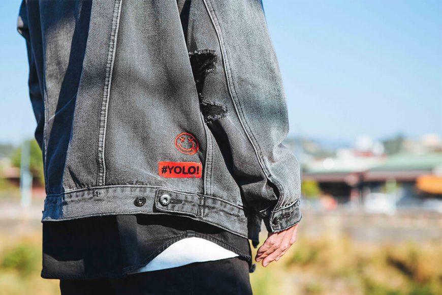 NextMobRiot 18 AW Yolo Hard Washed Denim Jacket (8)