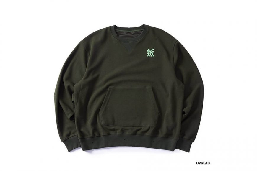 OVKLAB 1226(三)發售 18 AW Damage Sweatshirt (14)