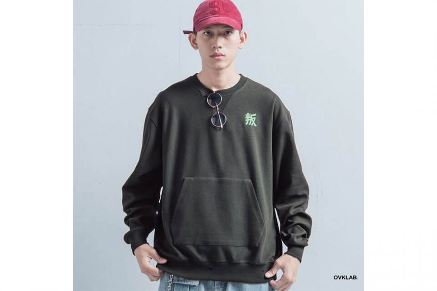 OVKLAB 1226(三)發售 18 AW Damage Sweatshirt (7)