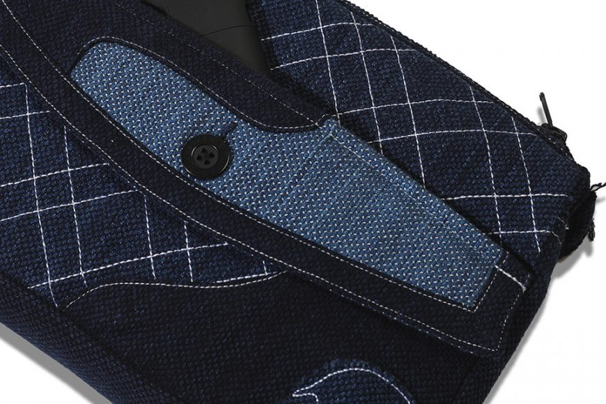 AES 112(六)發售 18 AW Aes Japan Indigo Sashiko Soulder Bag (5)