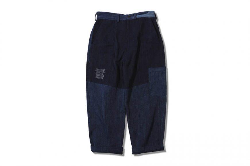 AES 18 AW Aes Japan Indigo Sashiko Trousers (1)