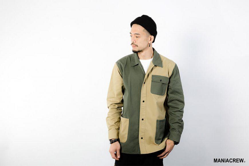 MANIA 18 AW 2 Tone Shirt (2)