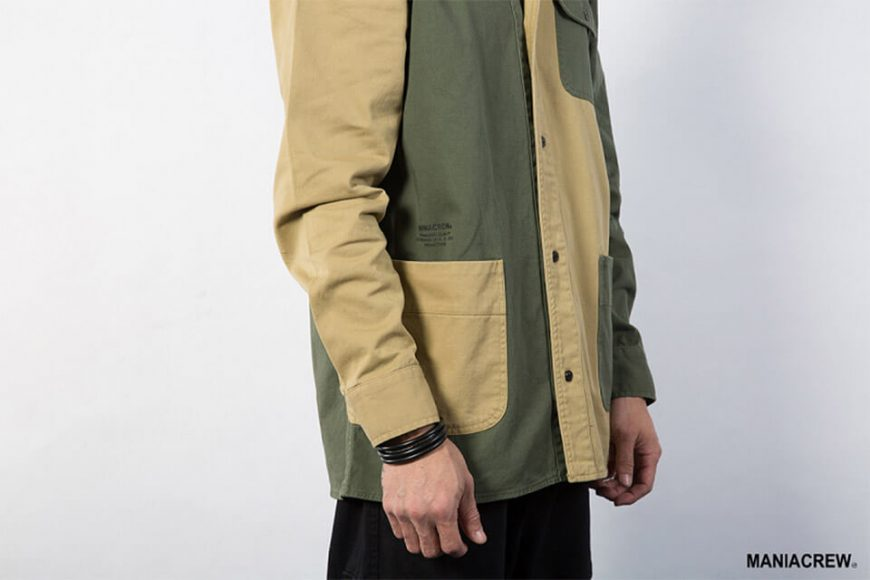MANIA 18 AW 2 Tone Shirt (3)