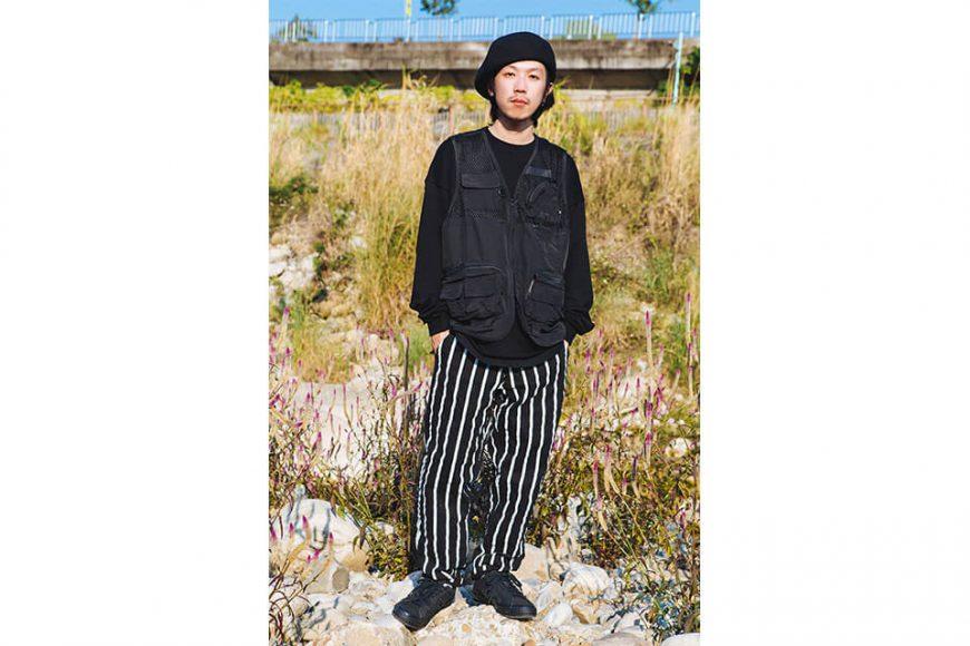 NextMobRiot 130(三)發售 18 AW Stripe Wave Loosely Capri-Pants (1)
