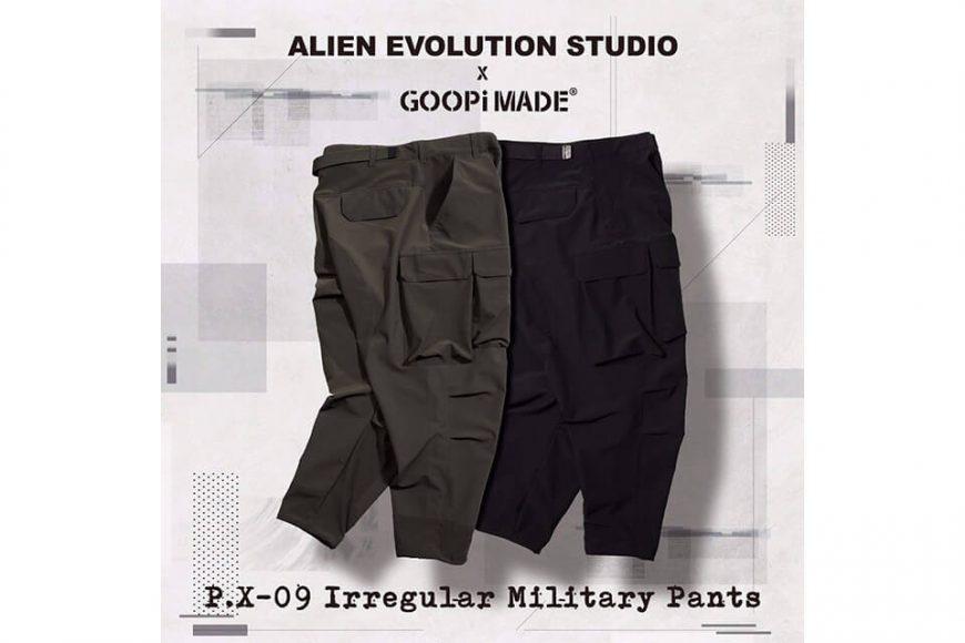 AES 27(四)初三發售 18 AW Aes x Goopi Irregular Militray Pants (3)