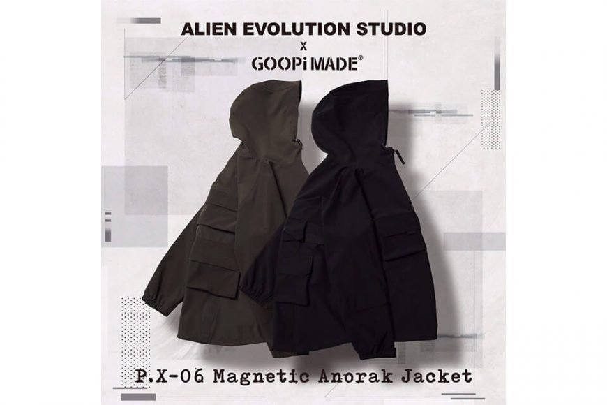 AES 27(四)初三發售 18 AW Aes x Goopi Magnetic Anorak Jacket (2)